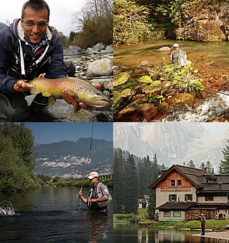 trentino fly fishing for brown trout, grayling and marble trout with denmark fishing lodge and trentino region